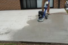 Stone look Concrete resurfacing on porch to make good to a defected concrete job
