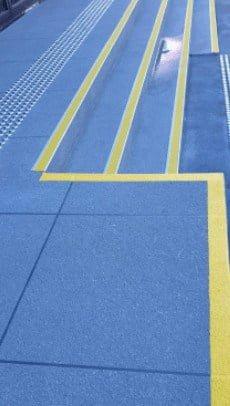 line marking in concrete resurfacing